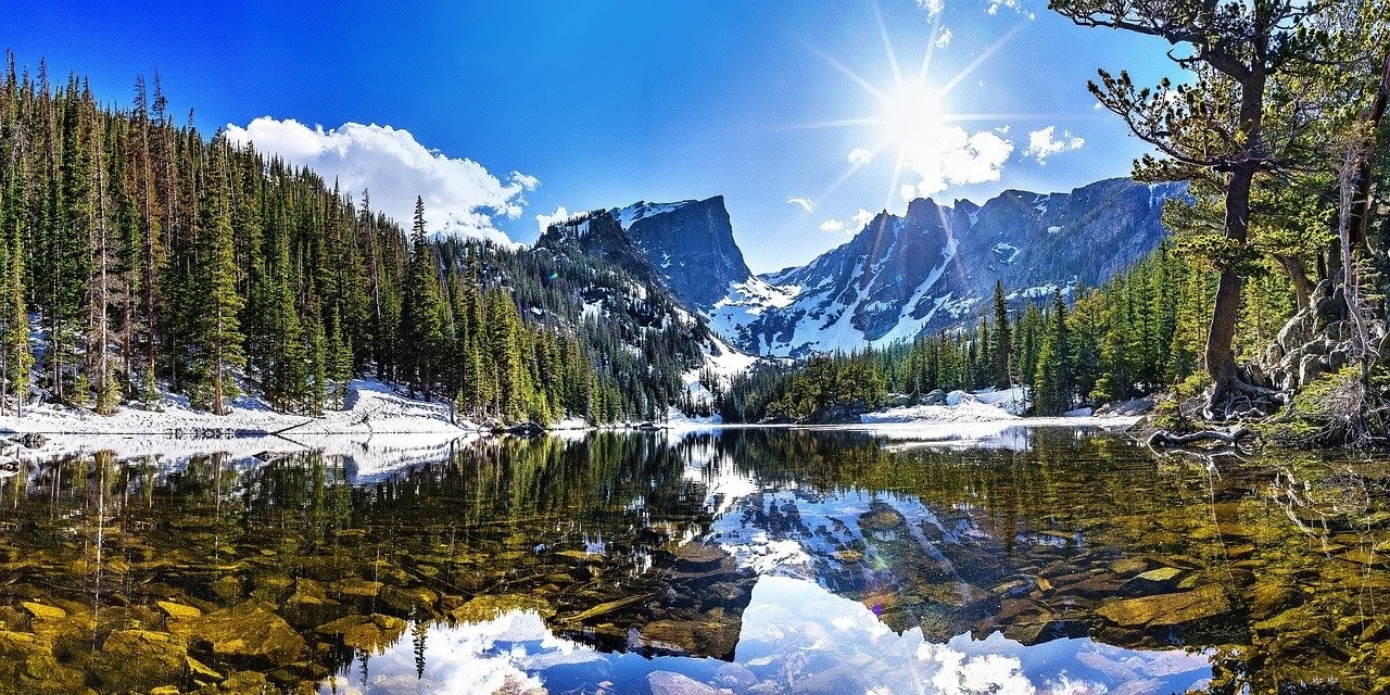 Nature at the Rocky Mountains National Park in Colorado.