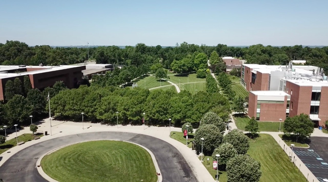 Aerial view of UC Blue Ash campus