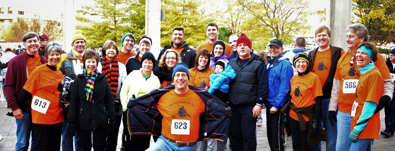 group at walk ahead for a brain tumor event