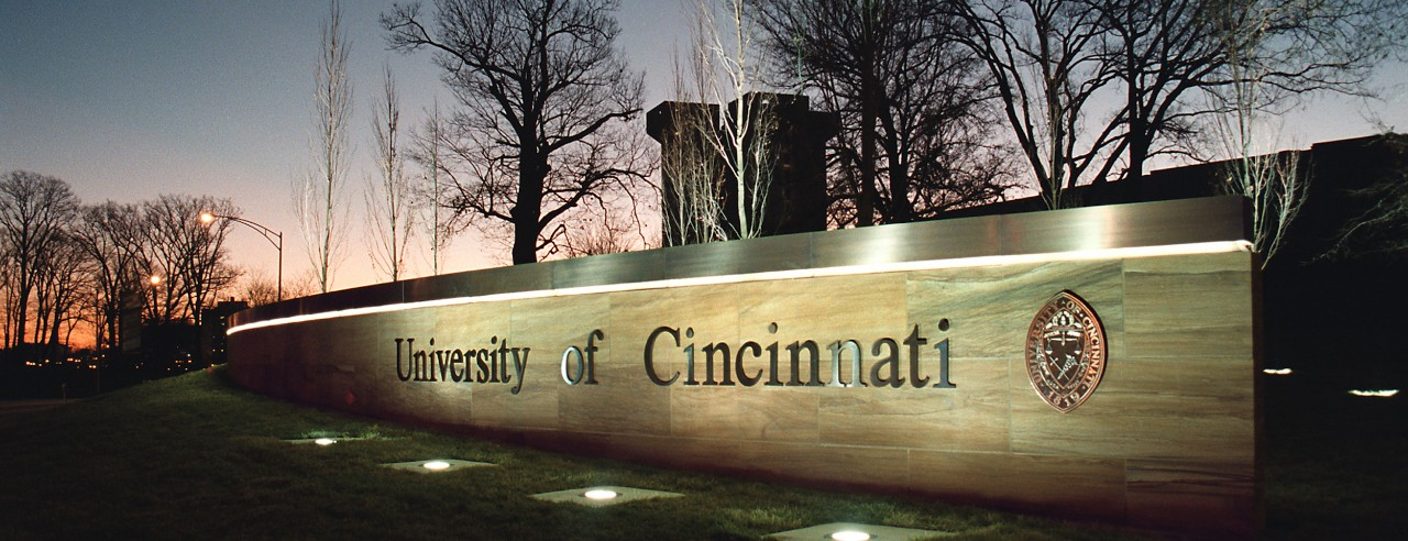 UC sign at corner of Clifton and Martin Luther King Avenues