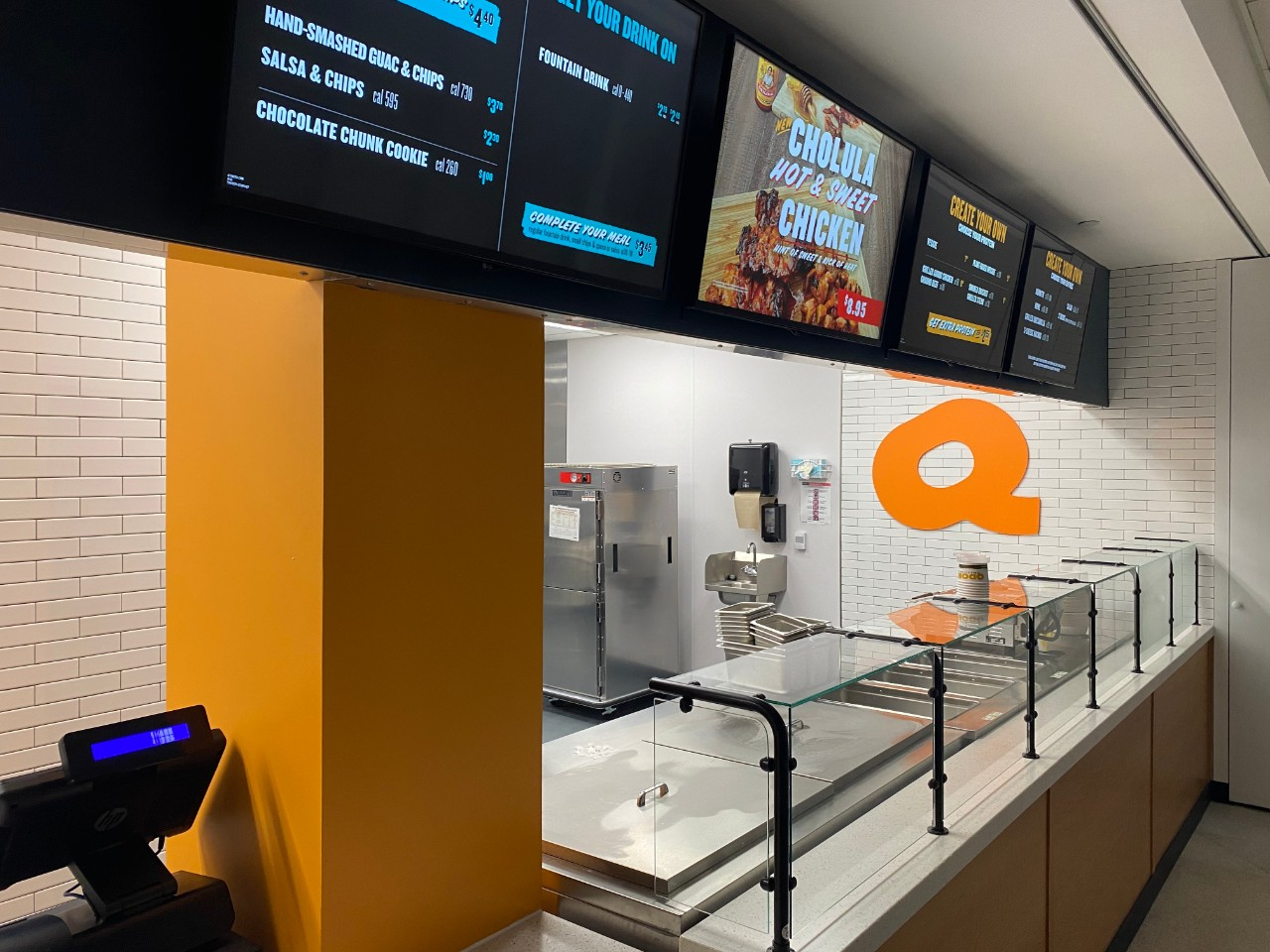 New Qdoba counter in TUC Food Court