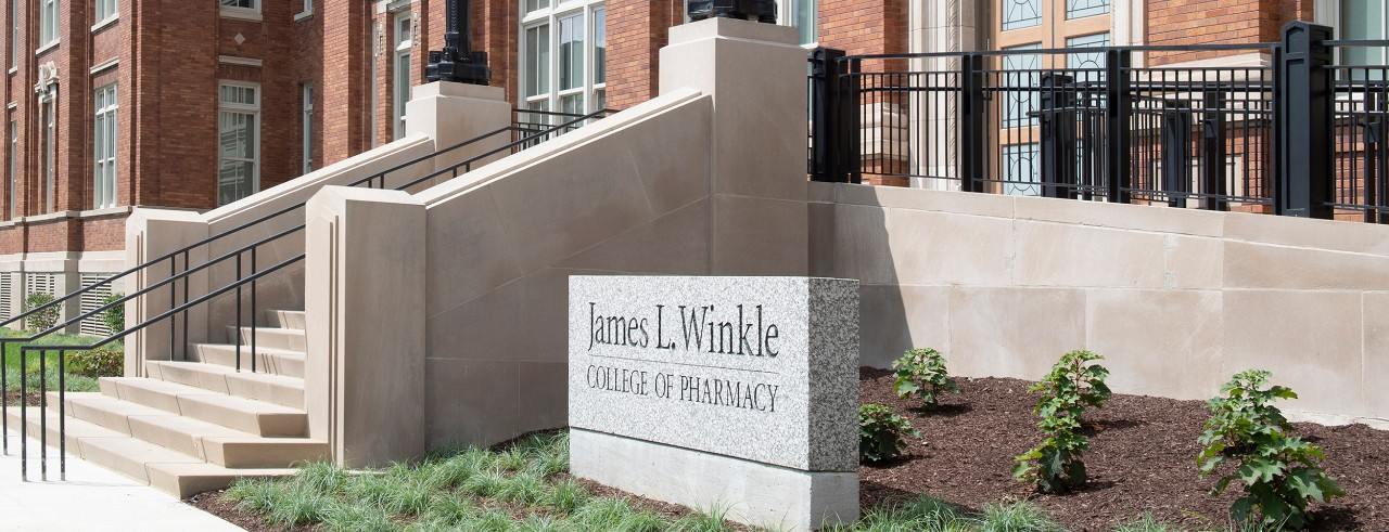 exterior view of the James L. Winkle College of Pharmacy