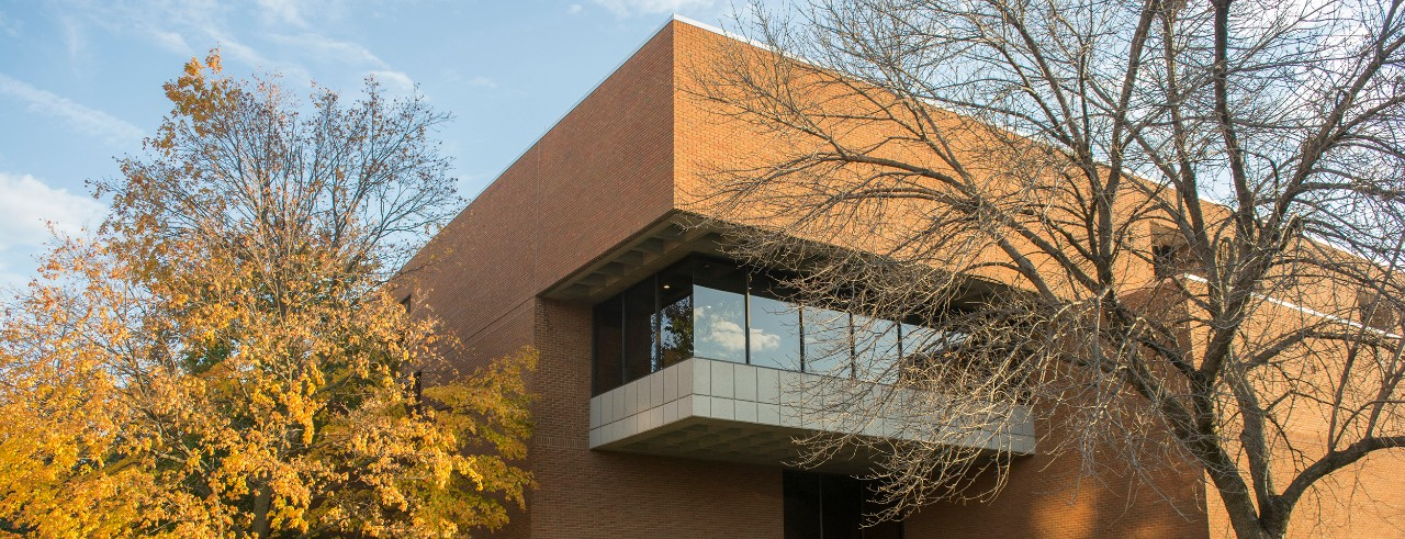 Law building with Autumn Foliage
