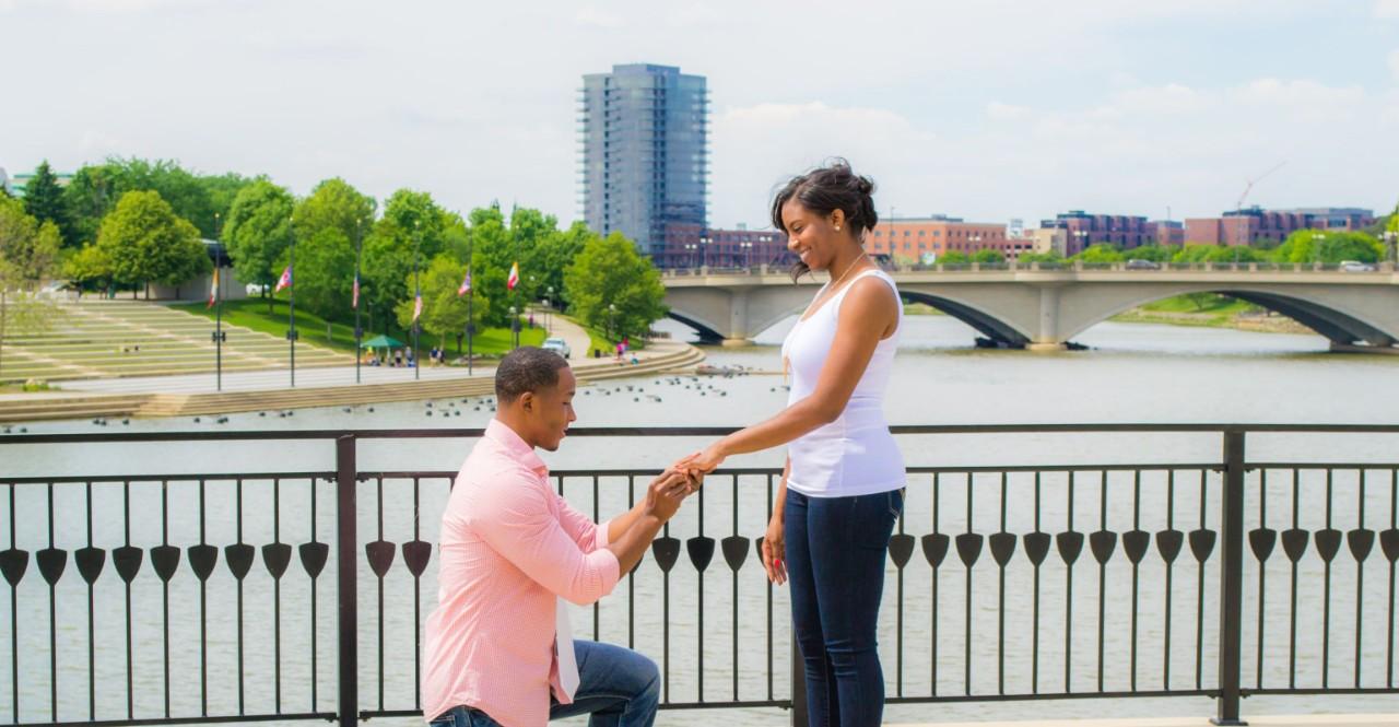 Maj. Victor and Stephani Shepherd engagement photo