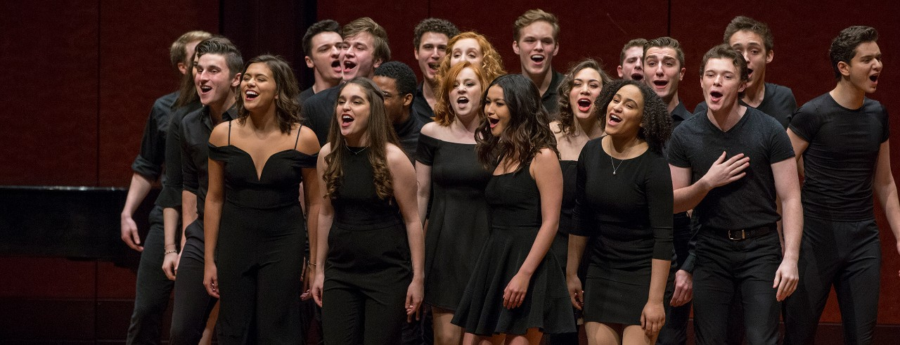 Musical Theatre students perform on stage