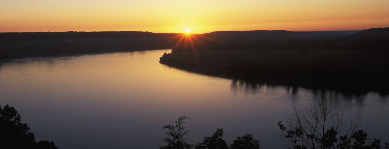 Ohio River at sunrise
