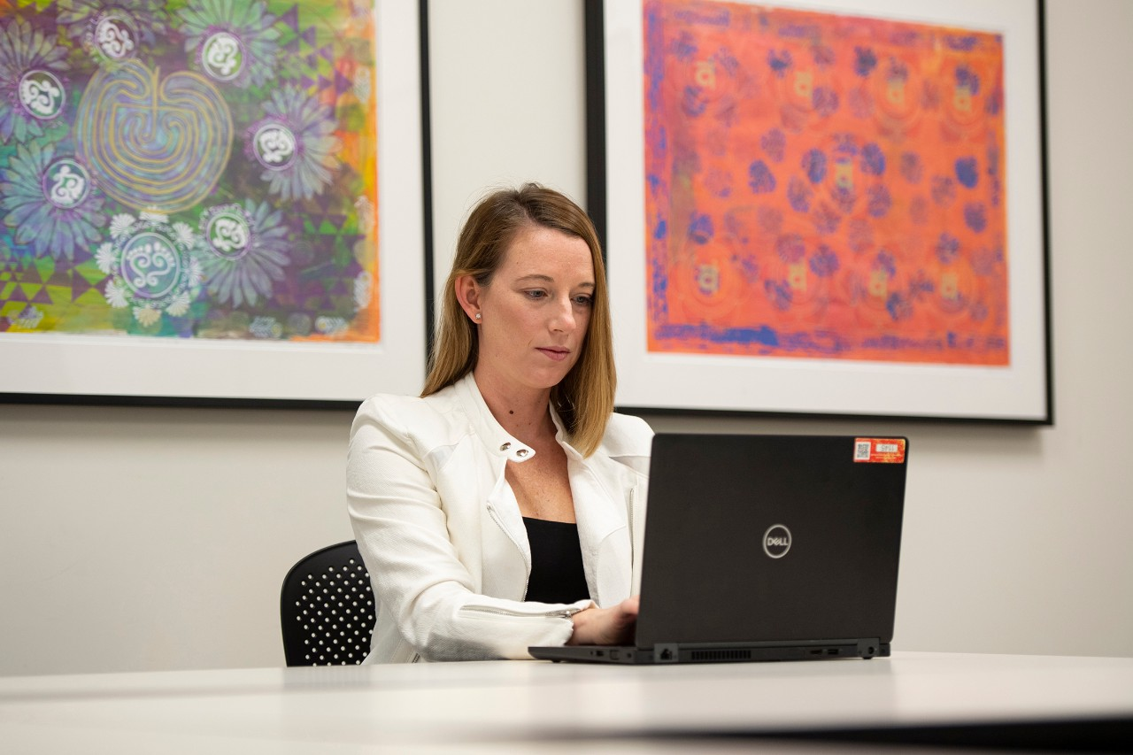Kelly Brunst, PhD, shown in the UC College of Medicine.