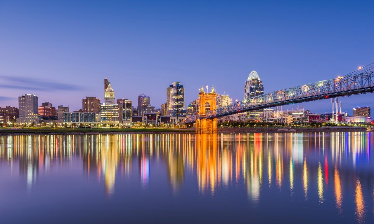 view of Cincinnati skyline