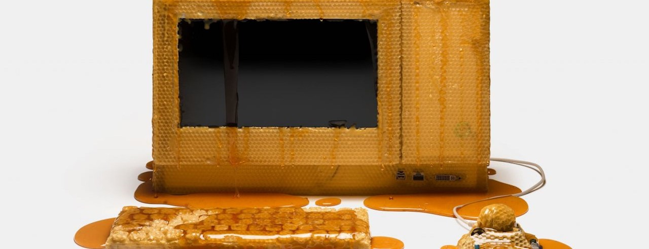 Computer made of honeycomb
