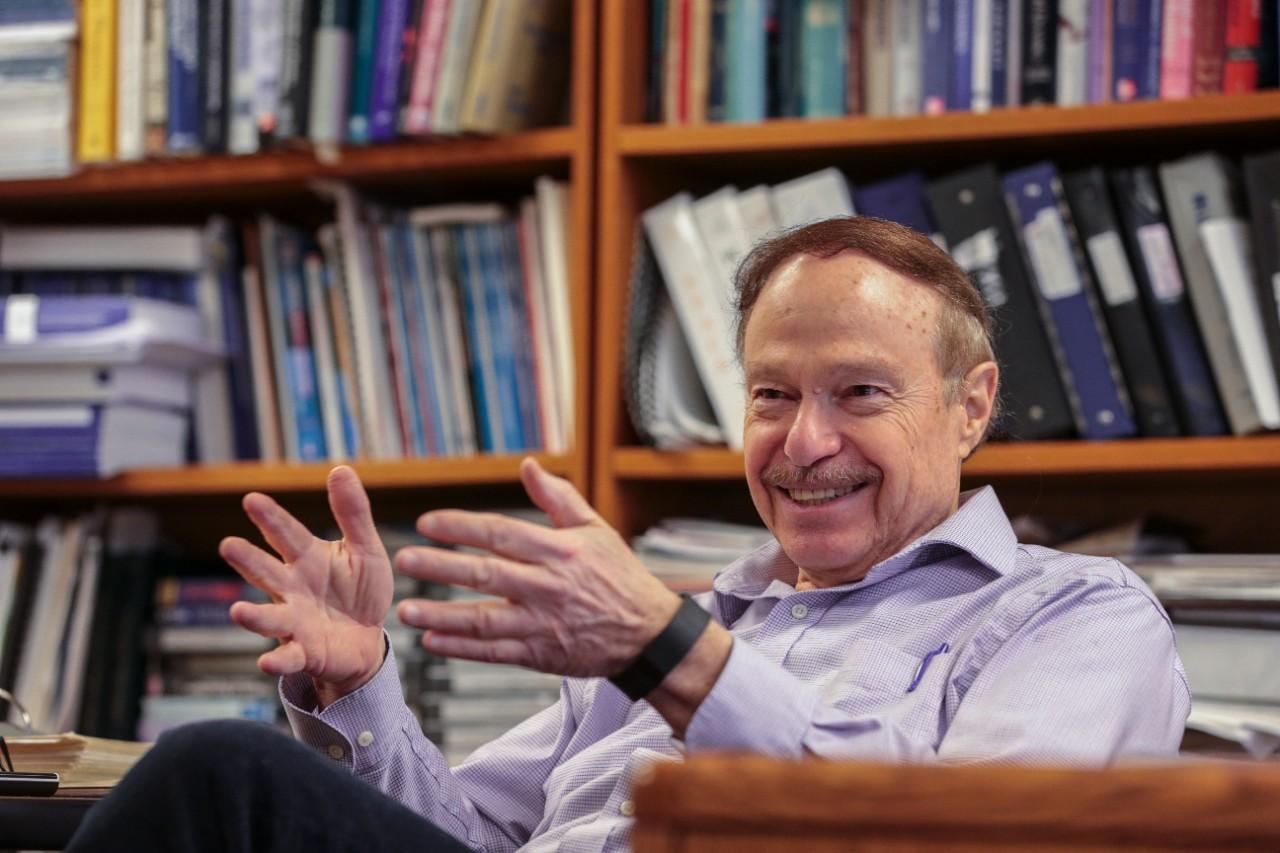 Ephraim Gutmark, Ph.D. in his office