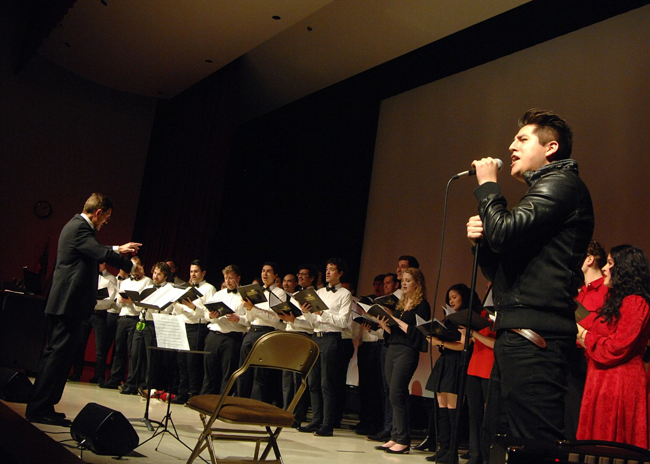 musical group performance on stage at the University of Cincinnati