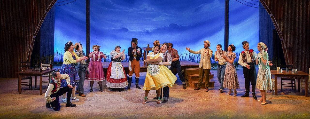 Students on stage during CCM's Bartered Bride performance
