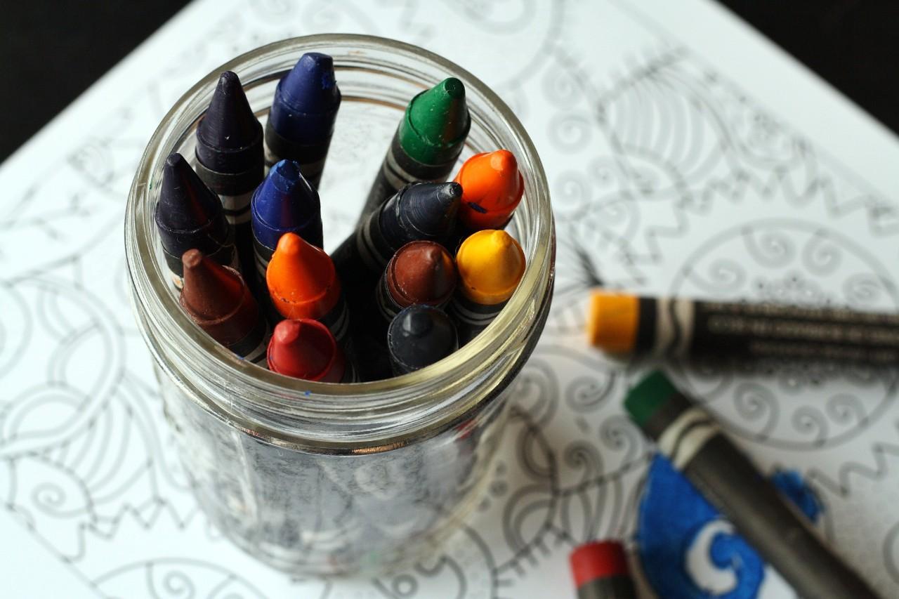 crayons in a jar