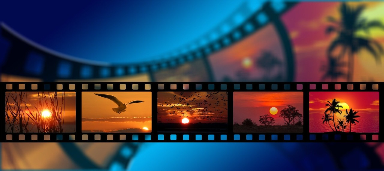 Abstract image of film.