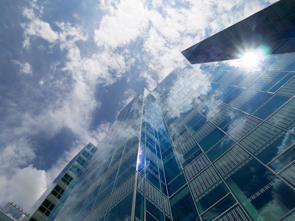 Glass-encased campus housing