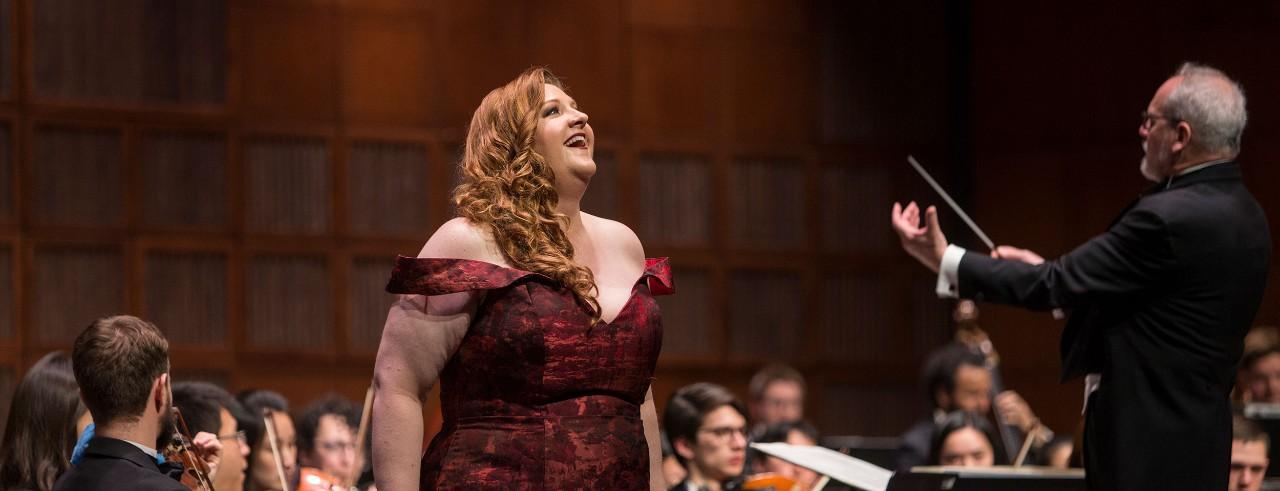 Tamara Wilson performs on stage during CCM's Sesquicentennial alumni showcase