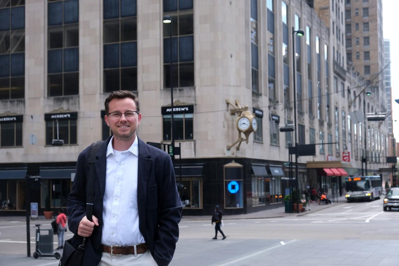 UC journalism grad and Cincinnati Business Courier senior reporter Tom Demeropolis.