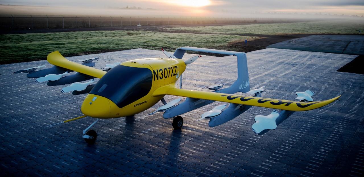 A Wisk Aero vertical-takeoff aircraft.