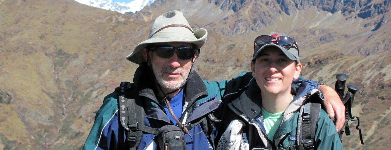 Ralph Spitzen and his daughter on a mountain climbing trip.