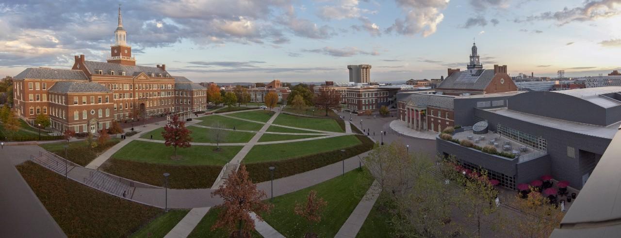 Panoramic image of University of Cincinnati
