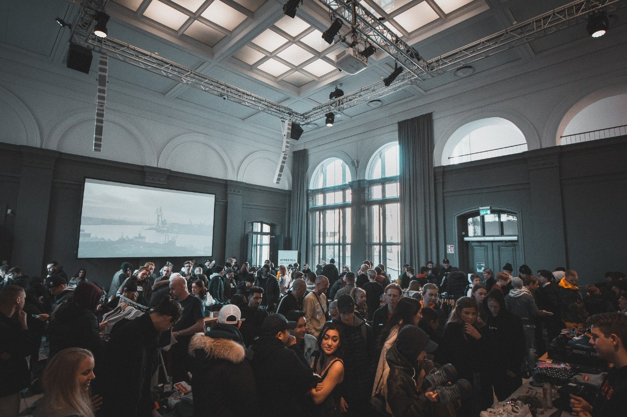 indoor group of people at an event
