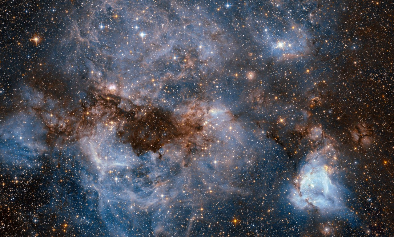 Hubble peers into the universe.