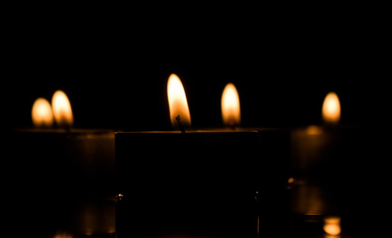 Photo of flickering candles
