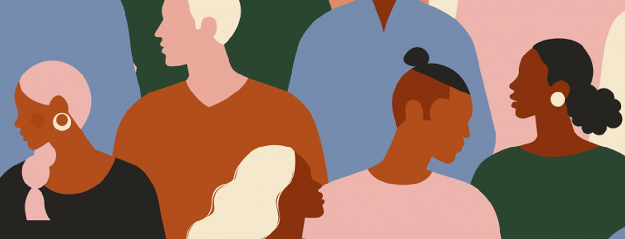 A graphic illustration of a diversity conference provided by the Cleveland Institute of Music.