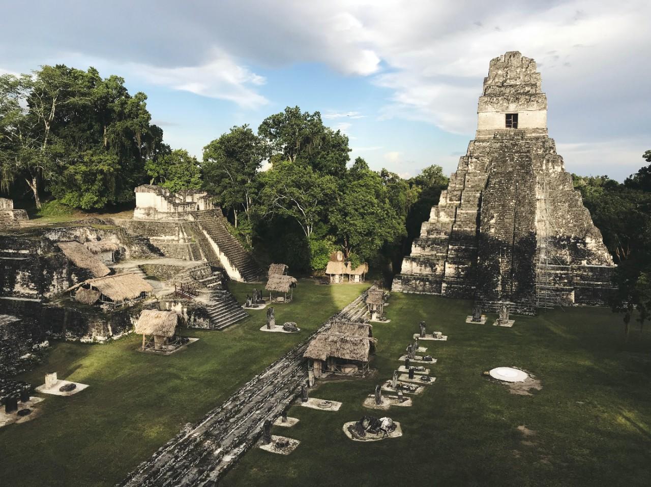 The ancient Maya city of Tikal.