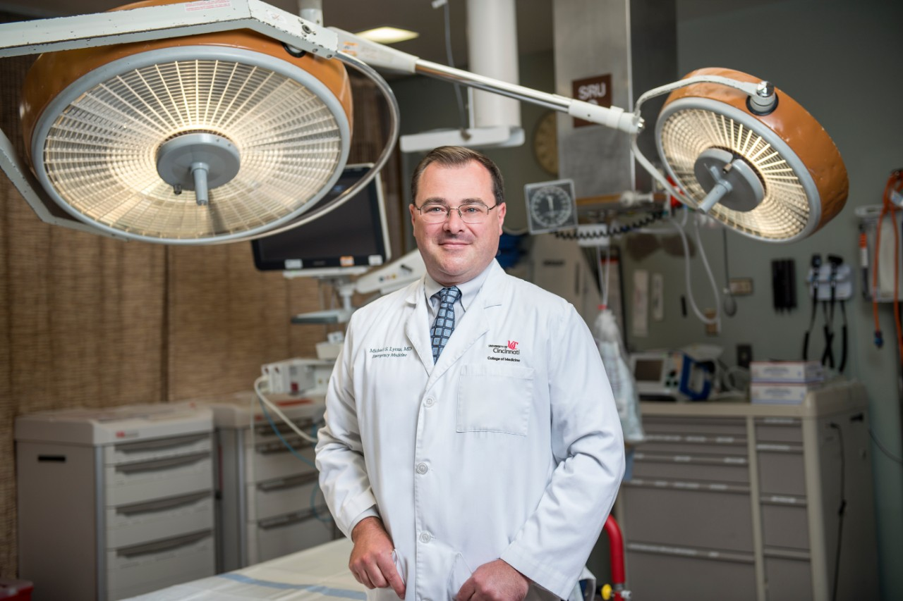 Michael Lyons, MD, in an operating room