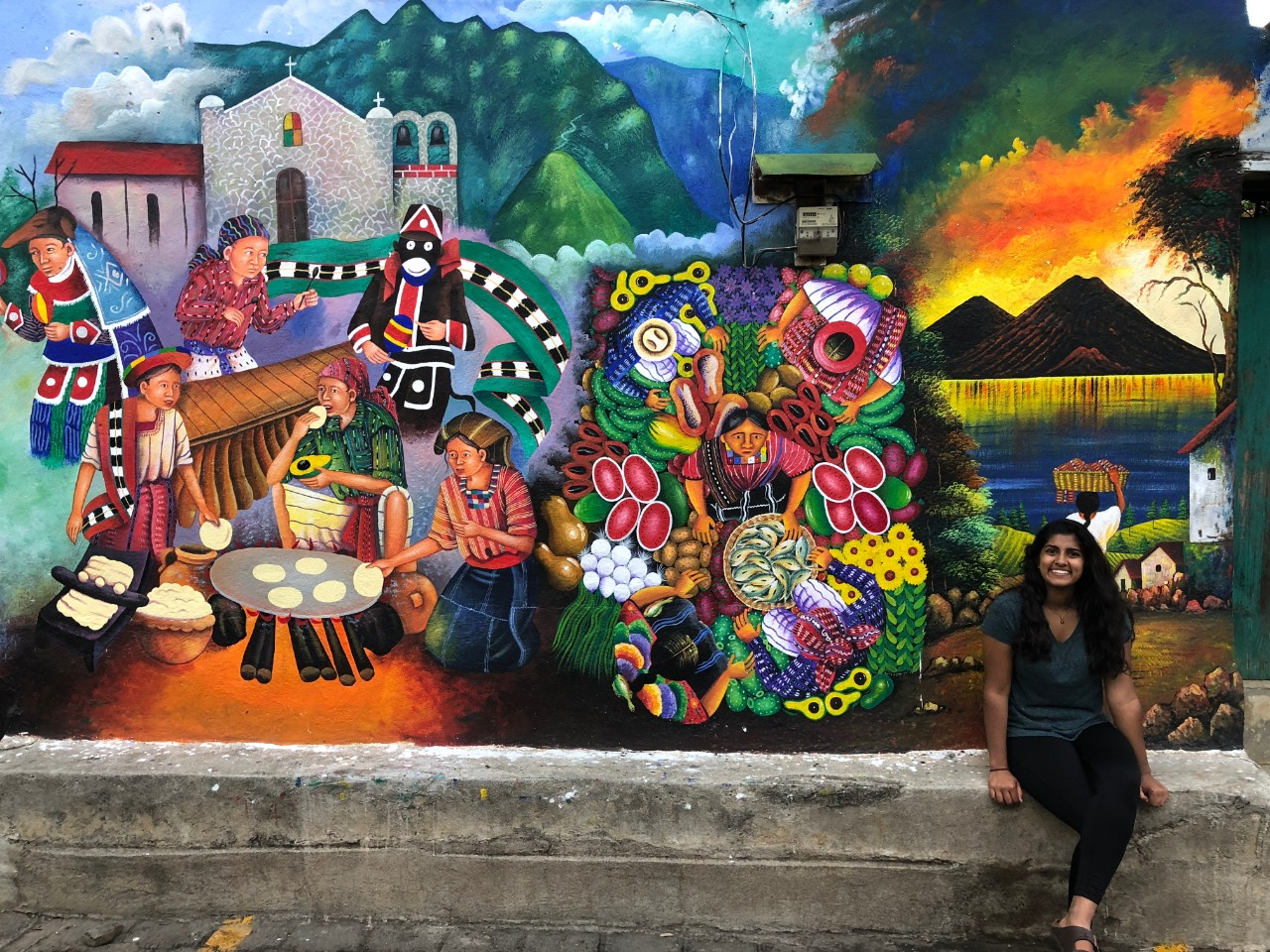 A&S and College of Medicine graduate Priyanka Sai Vemuru in Guatemala where she volunteered to work with people with disabilities.