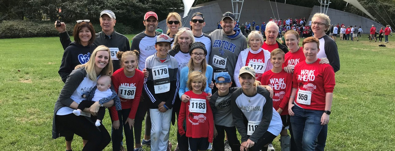 Group at Walk Ahead for a Brain Tumor Cure