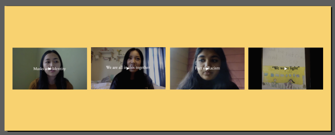 """Screenshots from stroytelling project """"Voices Against Racism and Stigma"""""""