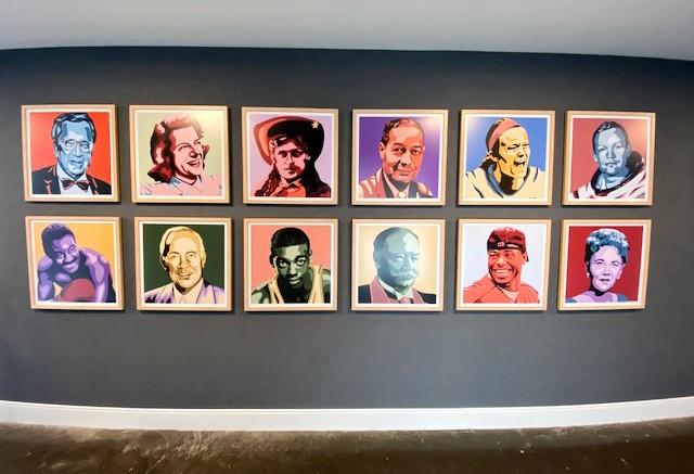 12 pop art style portraits