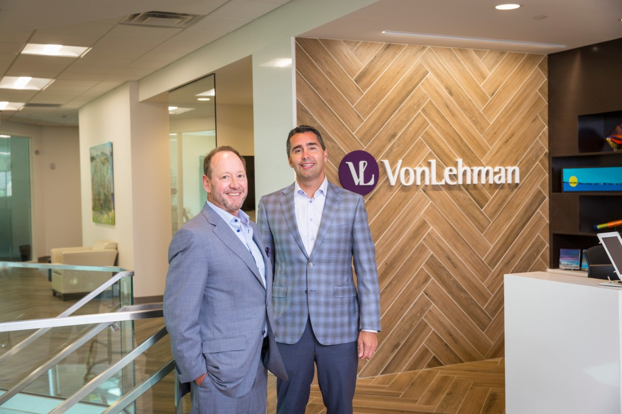 From left: Brian Malthouse (CEO) and Adam Davey (Shareholder) of VonLehman CPA & Advisory Firm