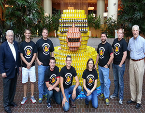 Uc Students Build Rubber Duck Out Of Cans