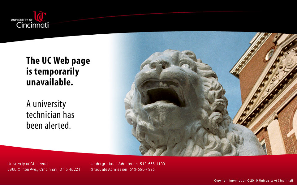 The UC Web site is temporarily unavailable.
